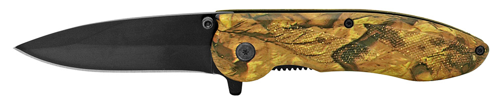 4.5 in Spring Assisted Pocket Folding Knife - Woodland Camo