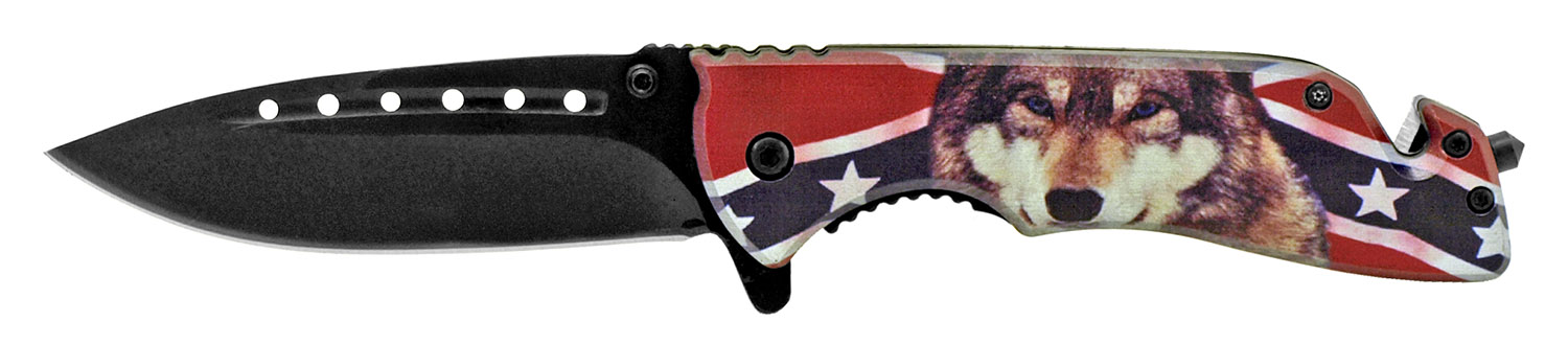 5 in Confederate Wolf Folding Knife