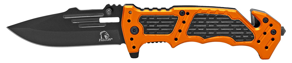 4.5 in Spring Assisted Folding Rescue Knife - Orange