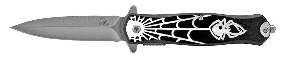 4.75 in Spring Assisted Spyder Folding Knife - Black