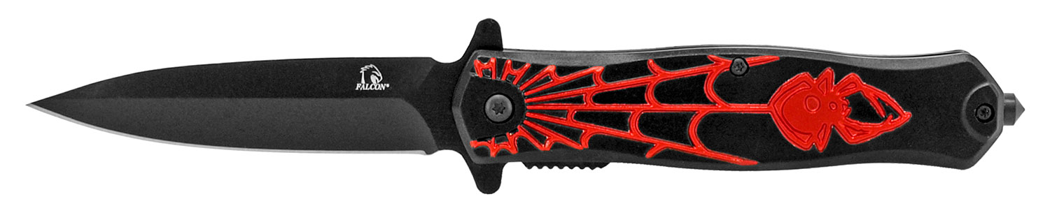 4.5 in Spider Hunt Folding Knife - Black and Red