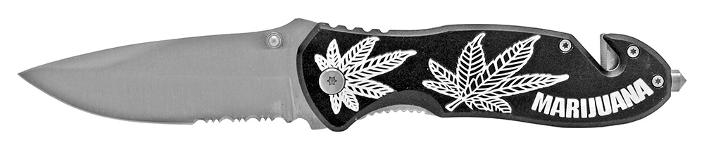4.5 in Spring Assisted Leaf Folding Knife - Black