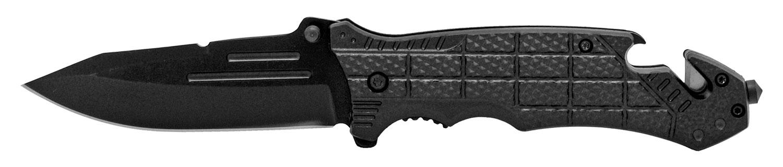 5 in Folding Rescue Knife - Black