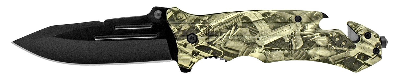 5 in Folding Rescue Knife - Gun Camo