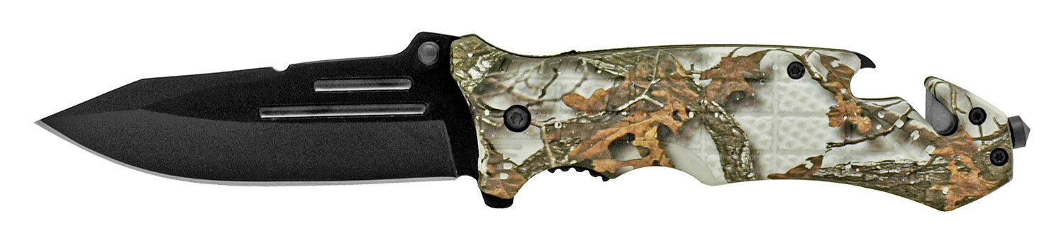5 in Folding Rescue Knife - Snow Camo
