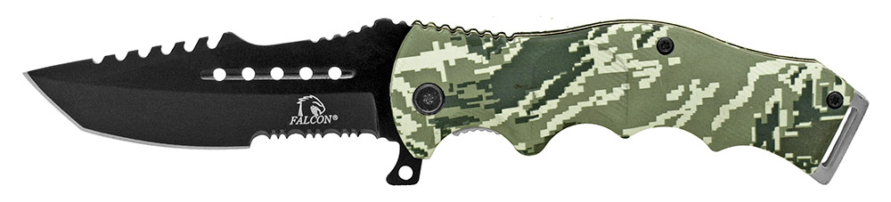 4.75 in Spring Assisted Tactical Folding Knife - Digital Camo