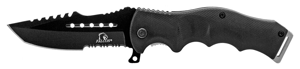 4.75 in Spring Assisted Tactical Folding Knife - Black