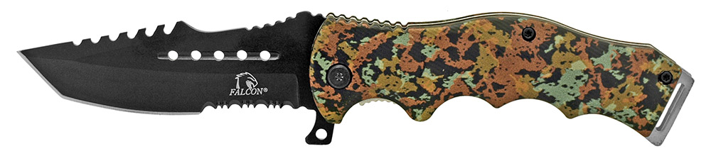4.75 in Spring Assisted Tactical Folding Knife - Green Digital Camo