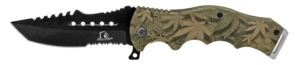 4.75 in Spring Assisted Tactical Folding Knife - Leaf Camo