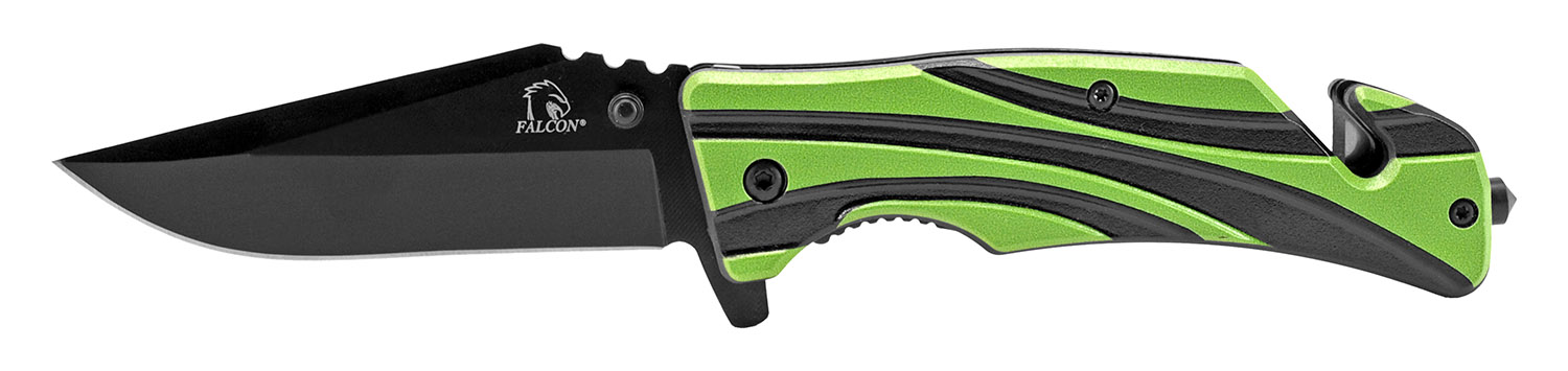 4.63 in Wave Pocket Knife - Green