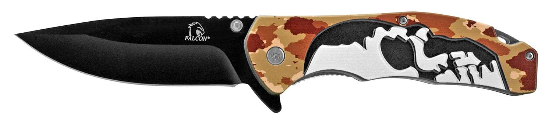 5 in Spring Assisted Skull Knife - Desert Camo