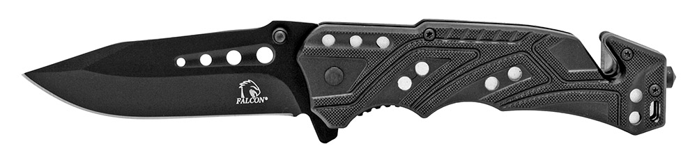 4.5 in Spring Assisted Folding Rescue Knife - Black