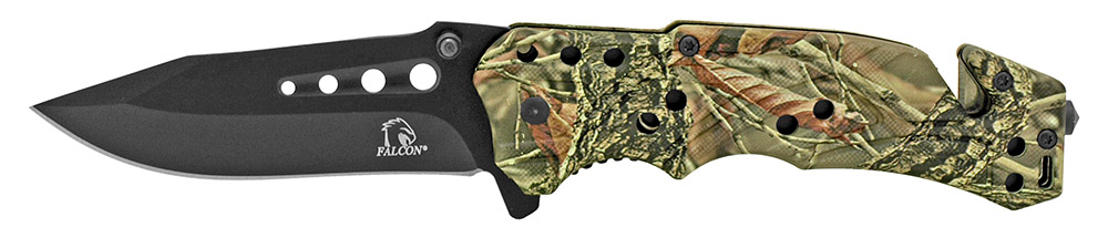 4.5 in Spring Assisted Folding Rescue Knife - Green Digital Camo