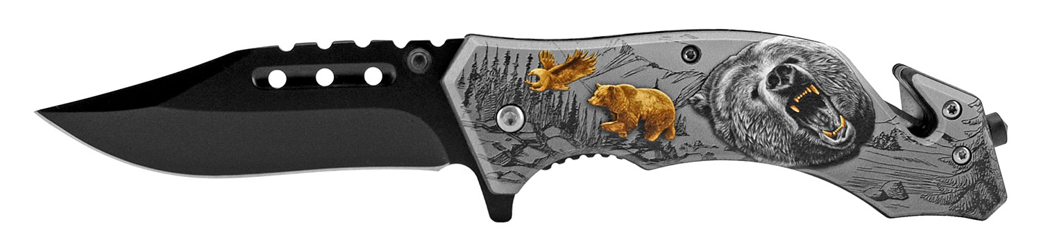 4.75 in Camping Pocket Knife - Bear