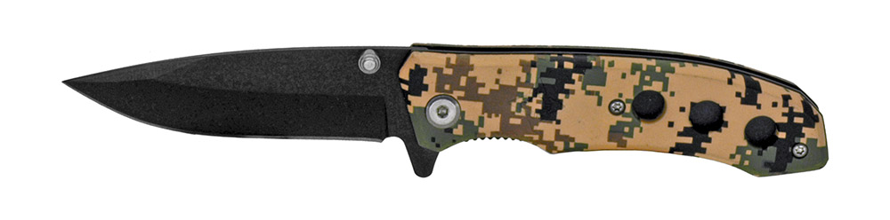 4 in Spring Assisted Folding Knife - Camo