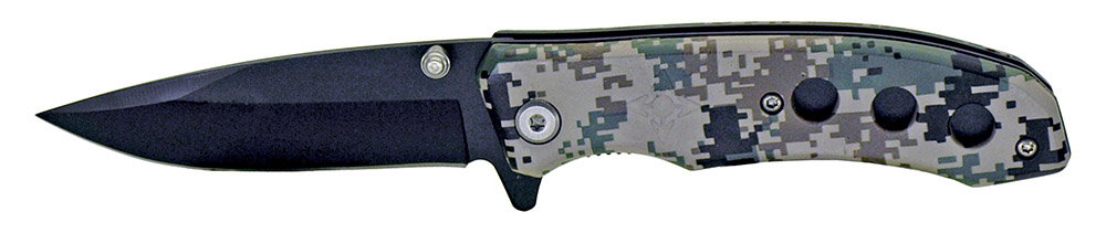 4 in Spring Assisted Folding Knife - Digital Camo