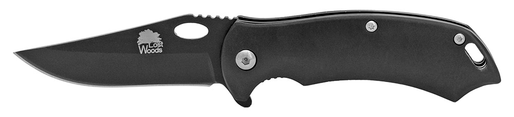Lost Woods 3.75 in Spring Folding Knife - Black