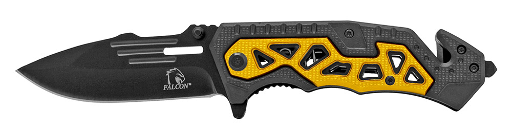 4.5 in Folding Rescue Knife - Gold