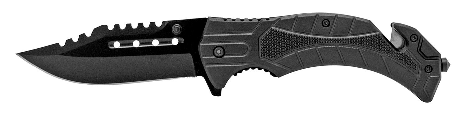 4.75 in Tactical Hunting Knife - Black