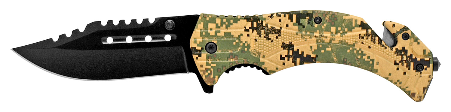 4.75 in Tactical Hunting Knife - Digital Camo