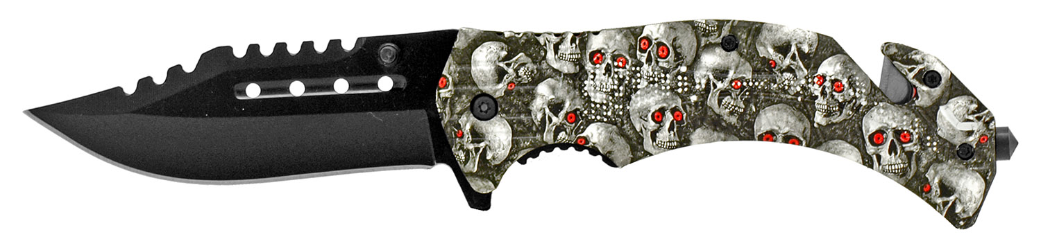 4.75 in Tactical Hunting Knife - Skull Camo