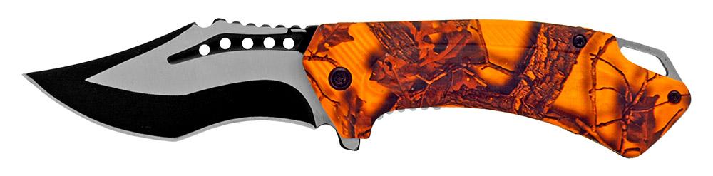 4.5 in Hunter's Folding Knife - Orange Camo