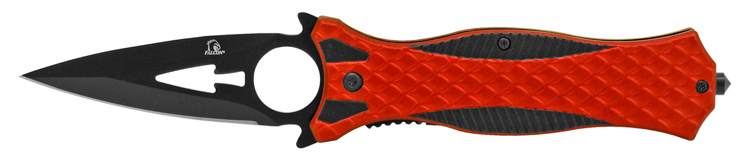 4.75 in Dagger Folding Knife - Red and Black