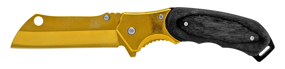 4.75 in Spring Assisted Folding Knife - Golden