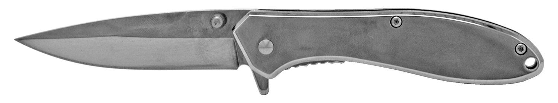 4 in Stainless Steel Folding Knife - Chrome