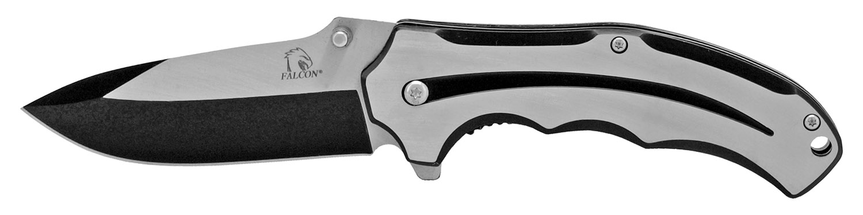 4.5 in Stylized Stainless Steel Folding Knife - Black