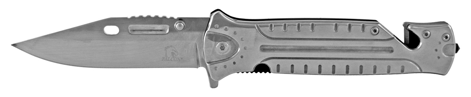 4.75 in Stainless Steel Color Rush Folding Knife - Chrome