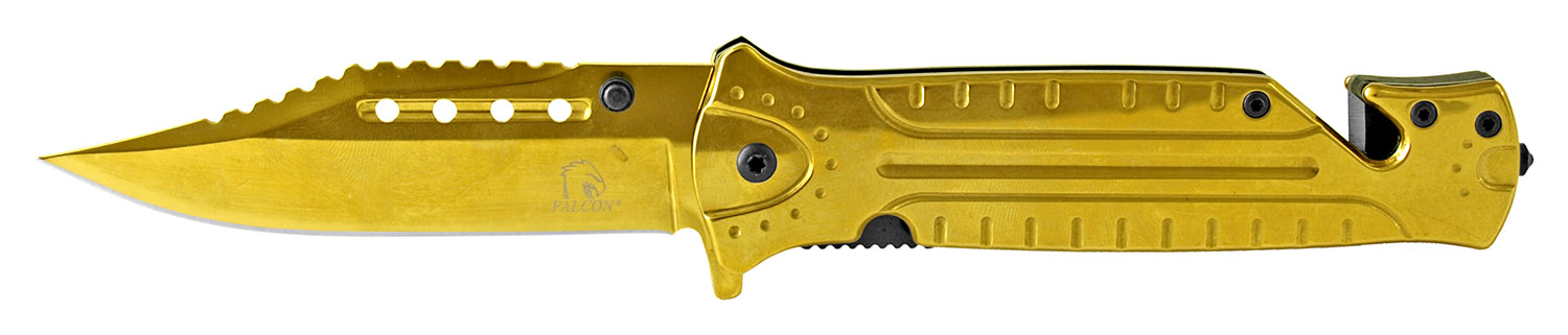 4.75 in Stainless Steel Color Rush Folding Knife - Golden