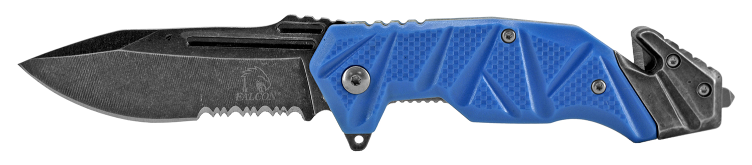 4.75 in Color Rush Rescue Folding Knife - Blue