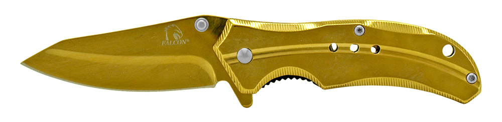 3.75 in Stainless Steel Pocket Knife - Gold