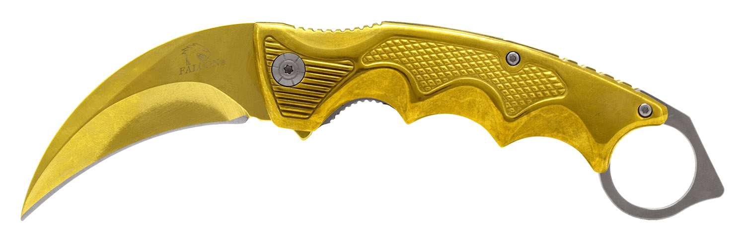 5.5 in Karambit Folding Knife - Golden