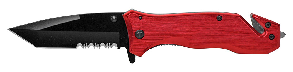 4.75 in Spring Assist Folding Knife - Red