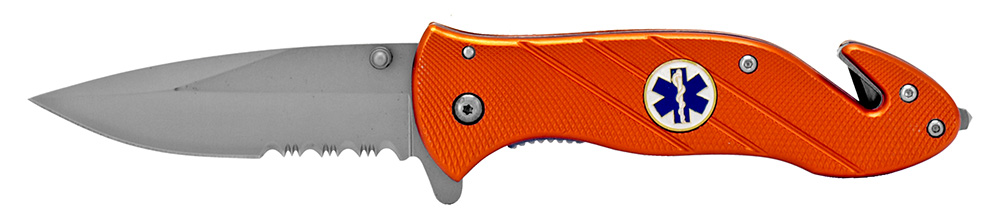 5 in EMS Rescue Folding Knife - Orange