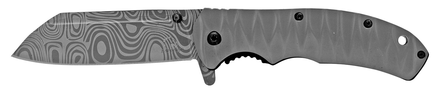 4.75 in Spring Assisted Folding Knife - Grey