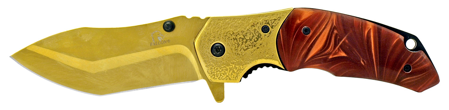 4.75 in Heavy Duty Hunter's Knife - Gold and Brown