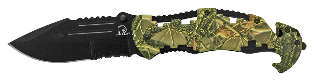 4.75 in Spring Assist Folding Knife - Woodland Camo