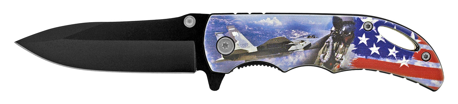 4 in Spring Assisted Pocket Knife - Air Force