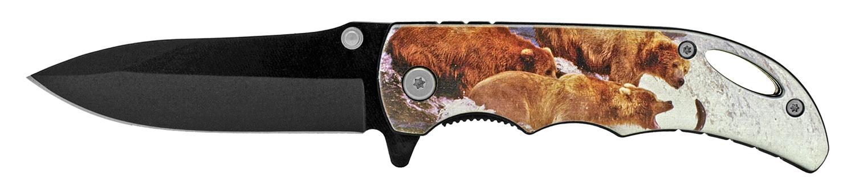 4 in Spring Assisted Pocket Knife - Bear