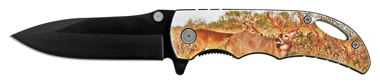 4 in Spring Assisted Pocket Knife - Deer
