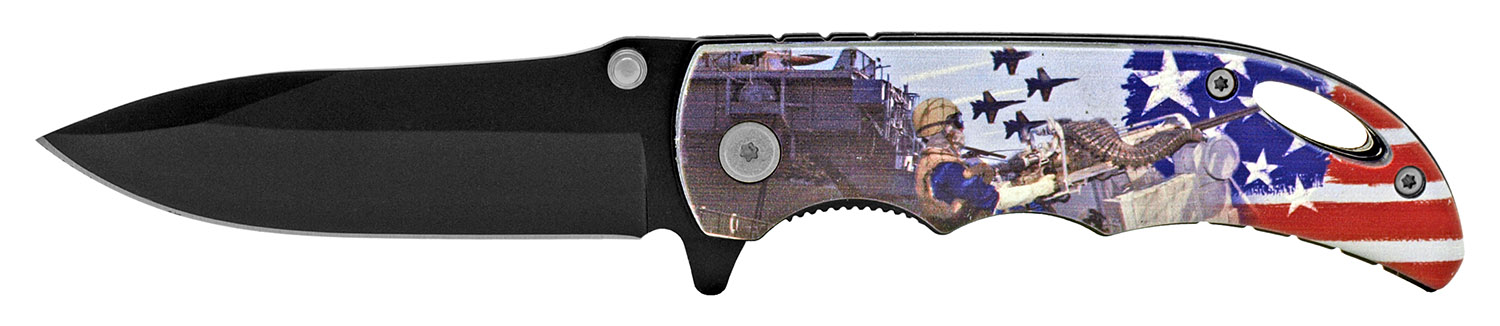 4 in Spring Assisted Pocket Knife - Navy