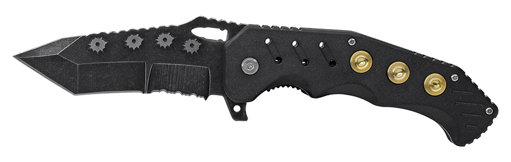 4.75 in Spring Assist Bullet Folding Knife - Black