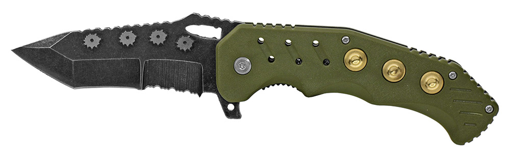 4.75 in Spring Assist Bullet Folding Knife - Green