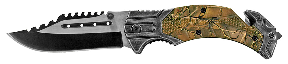 4.75 in Folding Knife - Woodland Camo
