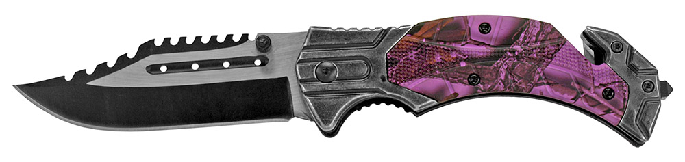 4.75 in Folding Knife - Purple Camo