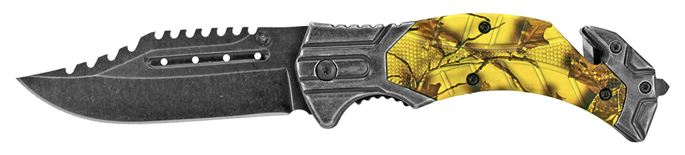 4.75 in Folding Knife - Yellow Camo