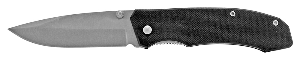 4 in Spring Assisted Folding Knife - Black